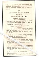 DESIRÉ DEVENYNS ° WATERVLIET 1886 + ANTWERPEN 1960 / ELEONORA  DE LILLE - Images Religieuses