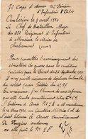 VP14.314 - MILITARIA - AMBERIEU 1924 - Lettre Le Chef De Bataillon Du 35 ème Rgt D'Infanterie à Mr Le Maire De CHALAMONT - Documents