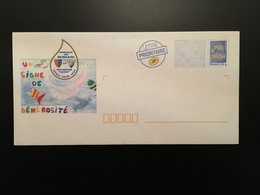 """PRET A POSTER LOGO BLEU """"AMICALE DE SOMAIN - OFFREZ VOTRE SANG"""" - Neuf - Prêts-à-poster: Repiquages /Logo Bleu"""