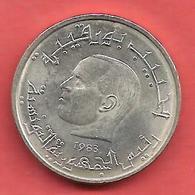 1/2 Dinar , TUNISIE , Cupro-Nickel , 1983 , N° KM # 303 - Tunesien