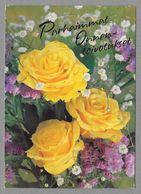 Postal Stationery Red Cross Finland (SPR 22) - Yellow Roses (Birthday) - Used - Finlande