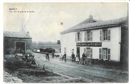 CPA Marly Vue Vers Le Pont De La Seille. Café De La Croix D'or Jules Petitmangin Metz - Autres Communes