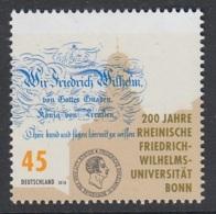 24.- GERMANY 2018 BICENTENARY OF BONN UNIVERSITY - [7] República Federal