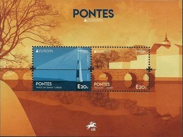 "PORTUGAL  - EUROPA 2018 -""PUENTES.-BRIDGES -BRÜCKEN -PONTS""-   HOJITA BLOQUE - 2018"