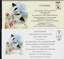 Invitation ZWIN Natur Park  Juin 2016  Des 2 Cercles Buzin ( Wallon Et Flamand) - 1985-.. Oiseaux (Buzin)