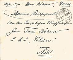 Deutschland Germany 1917 Kiel Minenschiff SMS Pelikan Marine Naval Cover - Brieven En Documenten