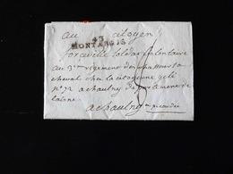 LETTRE DE MONTARGIS POUR CHAUNY  -  1793 - - Marcophilie (Lettres)