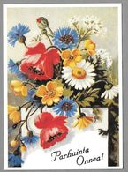 Postal Stationery Red Cross Finland (SPR 18) - Flowers Poppies Cornflowers (Birthday) - Used - Finlande