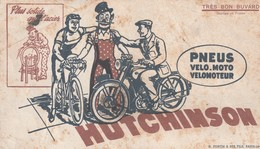 Rare Buvard Pneus Hutchinson Pour Vélo-moto Et Vélomoteur - Moto & Vélo