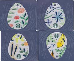 4 Gift Cards  - - -  Starbucks Germany  - - -  Easter Eggs 6148 - Gift Cards