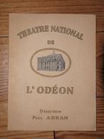 Album Programme Théâtre National De L'Odéon Paris Paul Abram Comédie Abbé Constantin 1938 Michèle Michel Bourdel Courtal - Théâtre