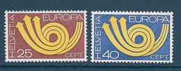 Timbre Neuf** De Suisse, N°924-5 Yt , Europa 1973, Cor Postal - Suisse