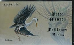 Carte Voeux 2017  S.P.A.B. - 1985-.. Oiseaux (Buzin)