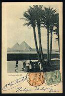 X05 - Egypt - PC Cairo To Bruxelles Belgique - 1902 - Au Bord Du Nil - Pyramids - Ägypten