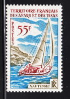 Afars & Issas 1970 MNH Scott #346 55fr Sailboat - Afars Et Issas (1967-1977)