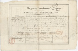 Congé De Réforme Royaume Espagne Pamprelune Légion étrangère 1837 Altbager Division ……Francisca Cachet Rouge - Documentos Históricos