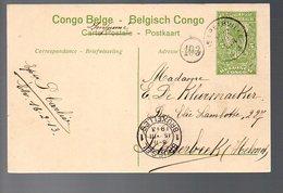 Congo - Entier Stibbe EP 42 VUE 7 - ELISABETHVILLE 1913  -  PL9 - Ganzsachen