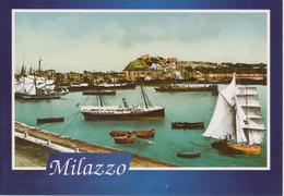 MILAZZO - IL PORTO AI PRIMI DEL '900 CON BARCHE - RIPRODUZIONE - Other Cities