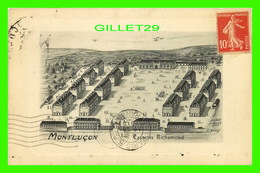 MONTLUÇON (03) - CASERNES RICHEMOND - CIRCULÉE EN 1915 - DESSIN DÉPOSÉ, E. BAILLY - - Montlucon