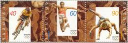 Armenia 1996 Summer Olympic Games, Atlanta 96 3v In Strip Mih 289-291Zd Scott 532 MNH** - Arménie