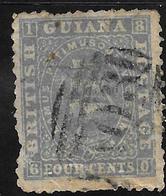 British Guiana Scott     47 Used  VG  Blue Gray Perf 12.5-13  CV 25.00 - British Guiana (...-1966)