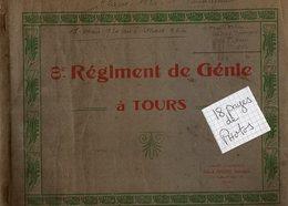 VP14.316 - MILITARIA - TOURS 1920 / 22 - Souvenir - Superbe Album Photos Du 8 ème Régiment De Génie à TOURS - Documenti