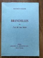 Maurice Gallois - Brindilles Ou J'ai Lié Ma Botte - Poésie