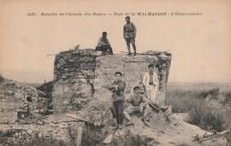 Rare Cpa Bataille Du Chemin Des Dames Fort De La Malmaison L'observatoire - 1914-18