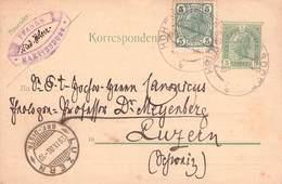 ÖSTERREICH - POSTKARTE MARTINSDORF -> LUZERN 1906 - Ganzsachen