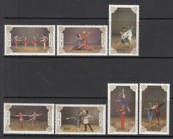 1990 Mongolia Ballet Dance Culture Complete Set Of 7  MNH - Mongolia