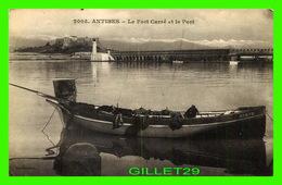 ANTIBES (06) - LE FORT CARRÉ ET LE PORT - ÉCRITE - B & G - - Antibes