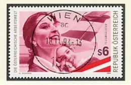 ÖSTERREICH Mi. Nr. 2142 Die österreichische Arbeitswelt - Flugbegleiterin, Heck Einer McDonnell Douglas MD-83 - Used - 1991-00 Usati