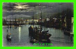 NICE (06) - LE PORT LA NUIT - ANIMÉE DE BATEAUX - L.L - CIRCULÉE EN 1907 - - Transport Maritime - Port