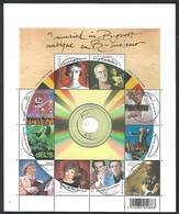 OCB Nr 3849/58 BL163 Music Musique Brel  Muziek  - Centrale Stempel - Used Stamps