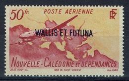Wallis And Futuna, New Caledonia Overprint, 50f., 1949, MH VF - Airmail