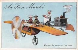 AU BON MARCHE- Série L'Aviation En L'An 2000- Voyage De Noces En L'an 2000 - Publicité
