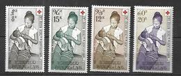 Laos Poste Aérienne Croix - Rouge  1958  Cat Yt N° 31 à 34  N** MNH - Laos