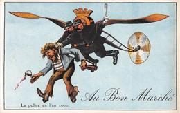 AU BON MARCHE- Série L'Aviation En L'An 2000- La Police En L'an 2000 - Publicité
