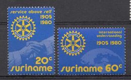 Surinam 1980  Mi.nr.: 894-895 Internationaler Rotary-Club  Neuf Sans Charniere / MNH / Postfris - Surinam
