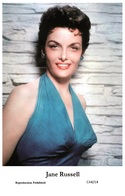 JANE RUSSELL - Film Star Pin Up PHOTO POSTCARD - C44-14 Swiftsure Postcard - Entertainers