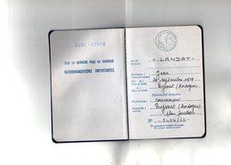VP14.317 - Préfecture De BERGERAC 1965 - RF - Passeport - Mr Jean LANDAT à EYMET ( Dordogne ) - Police & Gendarmerie