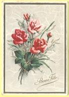 Tematica - Fiori - Rose - Mazzo Di Rose - Bonne Fête - 1960 - Wrote But Not Sent - Fiori