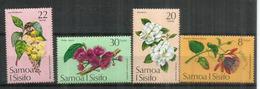 Grenadille Géante,Gardénia,Barringtonia,Malay Rose Apple.Fleurs Des îles SAMOA,  Série Complète Neuve ** - Samoa