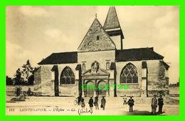 SAINTE-SAVINE (10) - L'ÉGLISE - TRÈS ANIMÉE - ÉCRITE EN 1917 - - Troyes