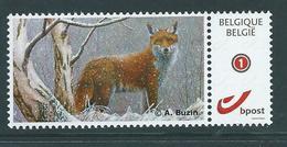 Duostamp Neuf (**)    Avec N° 4182  Renard - 1985-.. Oiseaux (Buzin)