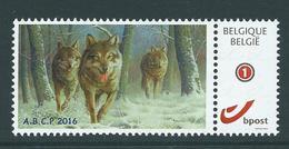 Duostamp Neuf (**)    Avec N° 4182  Loup D'Europe - 1985-.. Oiseaux (Buzin)