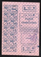 Vieux Papiers > Non Classés  Tickets D Alimentation Viande Et Boucherie 1942 - Non Classés