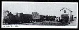 1986  --  TRAIN EN GARE DE BOURGNEUF EN MAUGES  DEBUT DE SIECLE   3Q455 - Non Classés