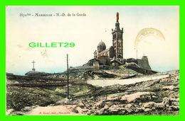 MARSEILLE (13) - NOTRE-DAME DE LA GARDE -  P. RUAT, ÉDIT - CIRCULÉE EN 1909 - - Notre-Dame De La Garde, Ascenseur