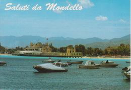 MONDELLO - STABILIMENTO VISTO DAL MARE CON BARCHE E MOTOSCAFI - Other Cities